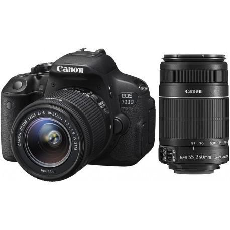 Canon EOS 700D + 18-55mm STM + 55-250mm II Kit