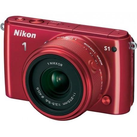 Nikon 1 S1 + 11-27.5mm Kit, red