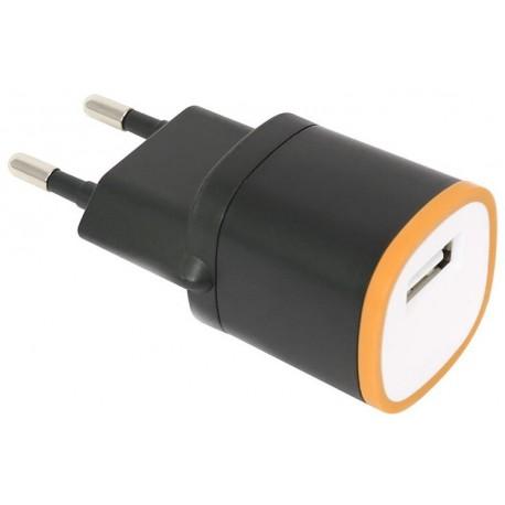 Omega USB laadija 1500mA, must/oranž (42892)