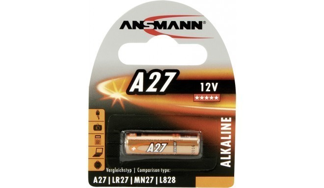 Ansmann sārmu baterija A27 12V