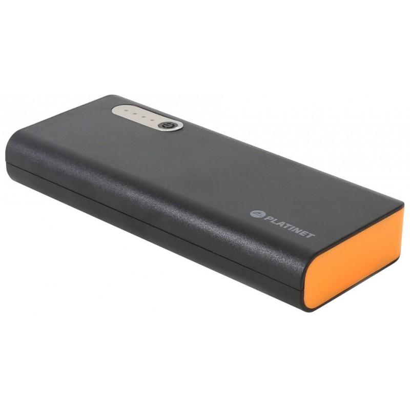 Platinet power bank 13000mAh + torch, black/orange (42898)