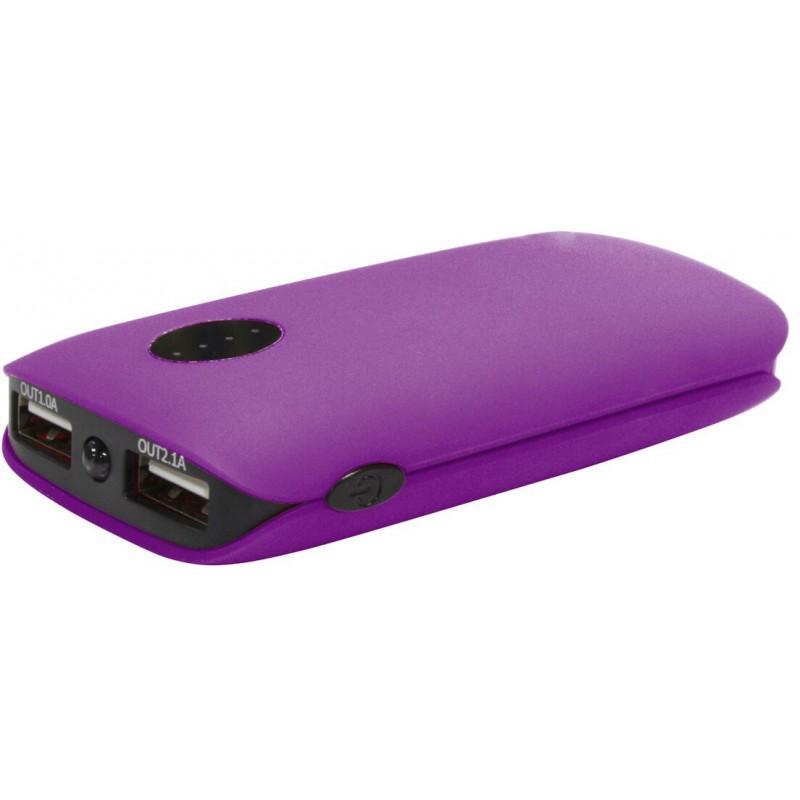 Platinet power bank 5000mAh 2xUSB, фиолетовый (42410)