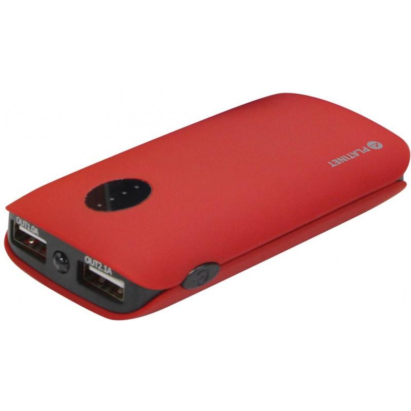 Platinet power bank 5000mAh 2xUSB, красный (42411)