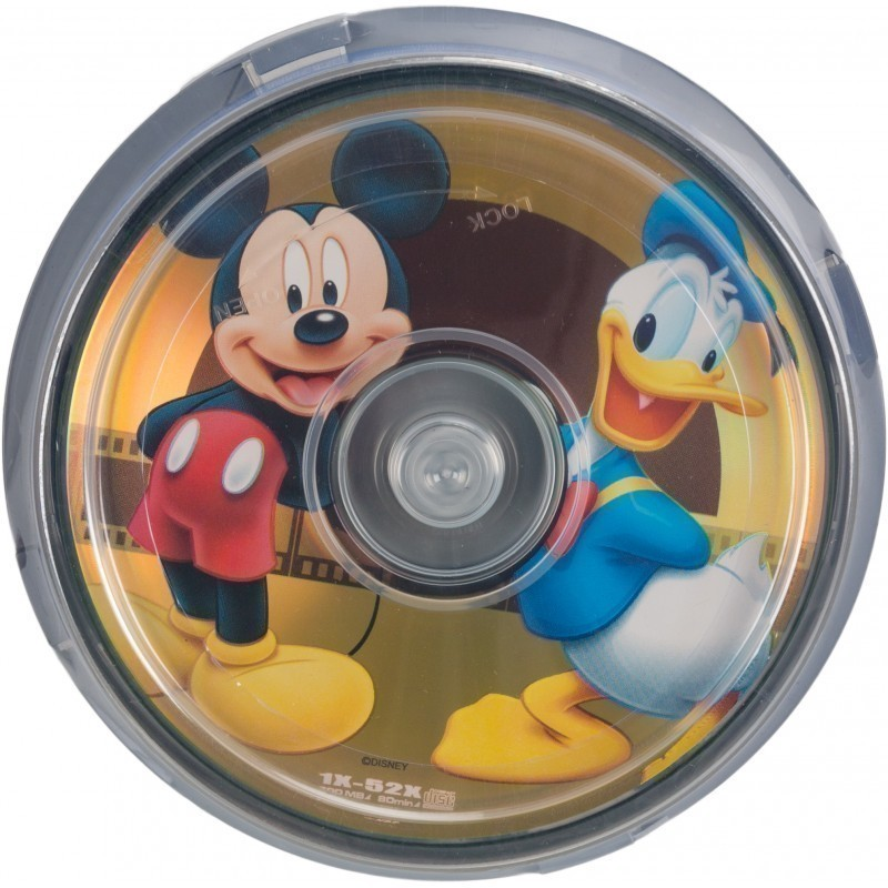 Disney CD-R 700MB 52x Mickey & Donald 10tk tornis