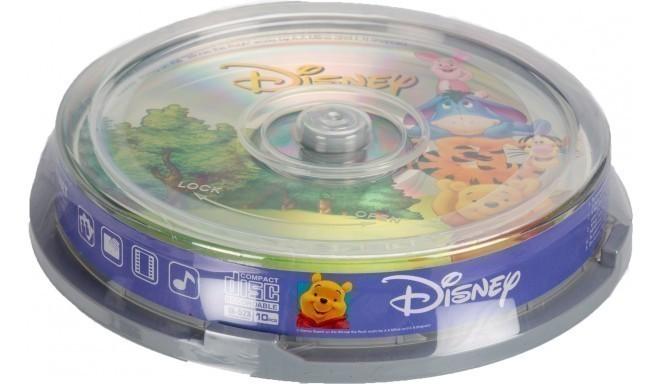 Disney CD-R 700MB 52x The Pooh 10 gb. spindle iepakojumā