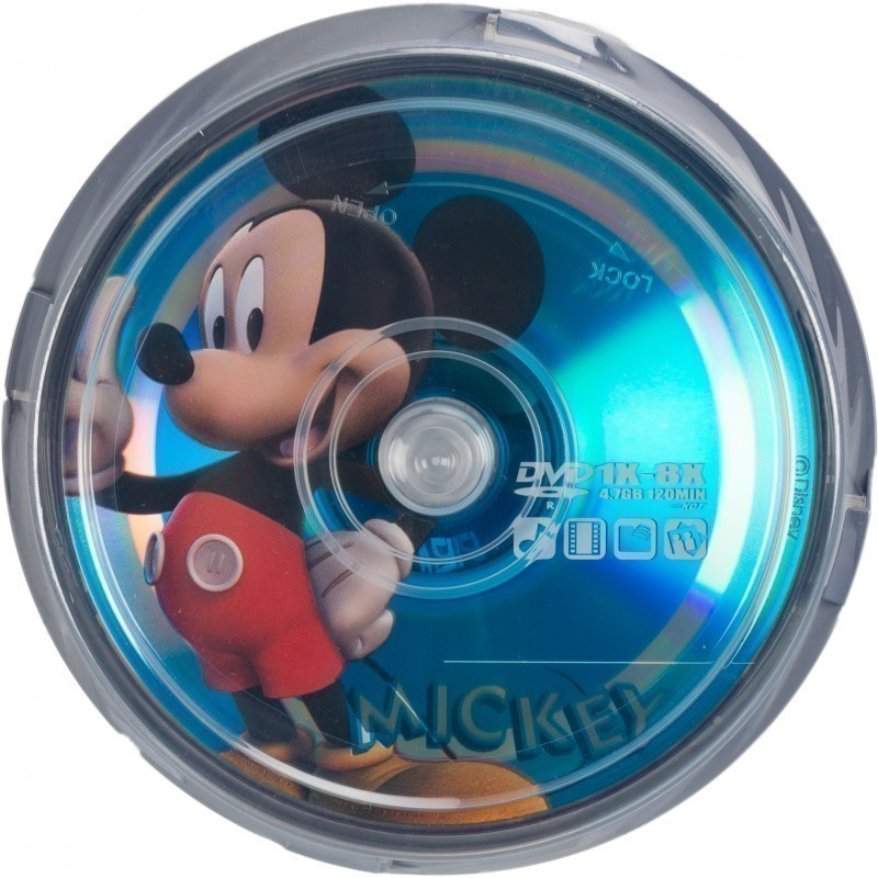 Disney DVD-R 4,7GB 8x Mickey 10tk tornis