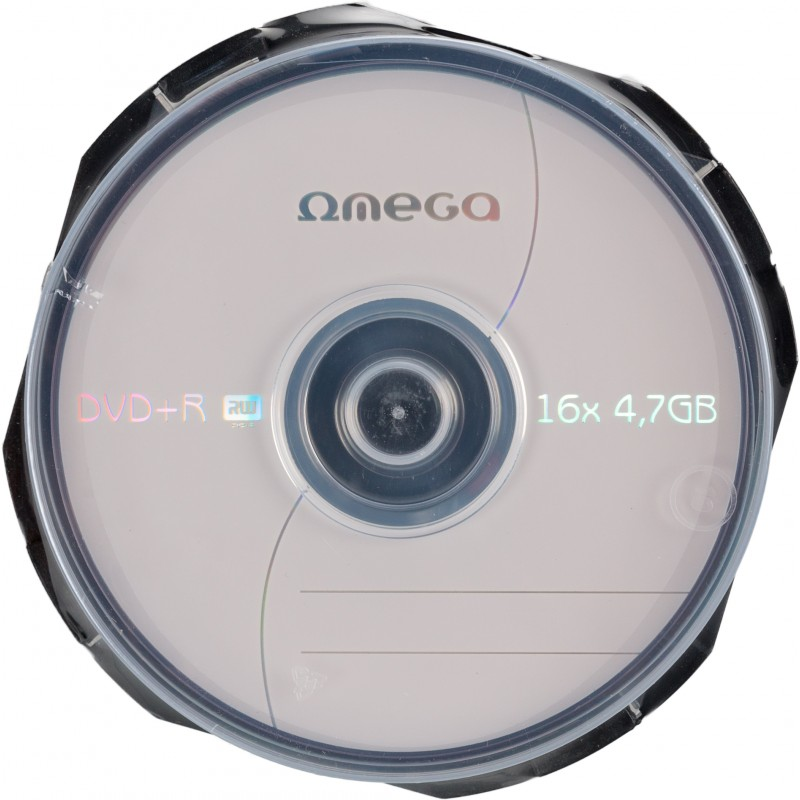 Omega DVD+R 4,7GB 16x 10tk tornis