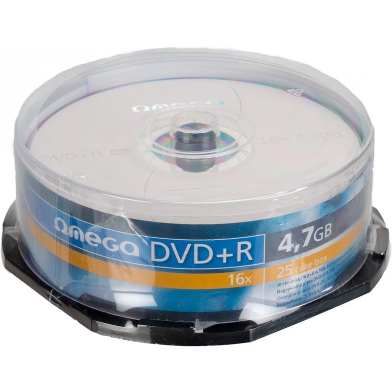Omega DVD+R 4,7GB 16x 25gb spindle