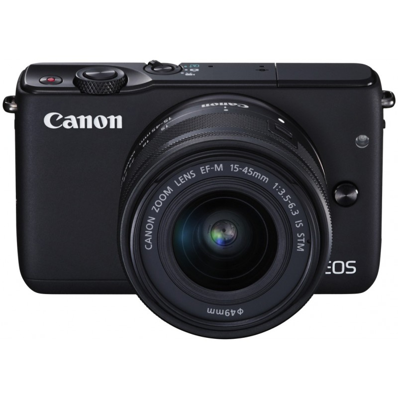 canon eos m10 15 45mm is stm kit black mirrorless. Black Bedroom Furniture Sets. Home Design Ideas