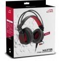 Speedlink kõrvaklapid + mikrofon Maxter, must (SL-860002-BK)