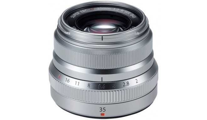 Fujinon XF 35мм f/2 R WR объектив, серебристый