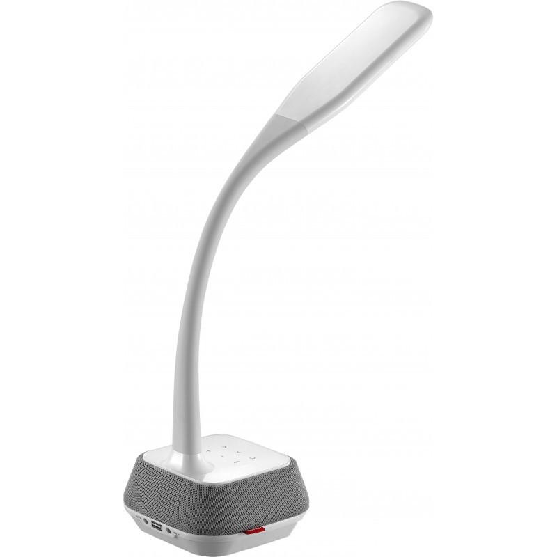 Platinet galda lampa ar skaļruni un USB lādētāju PDLM6U 18W (44126)