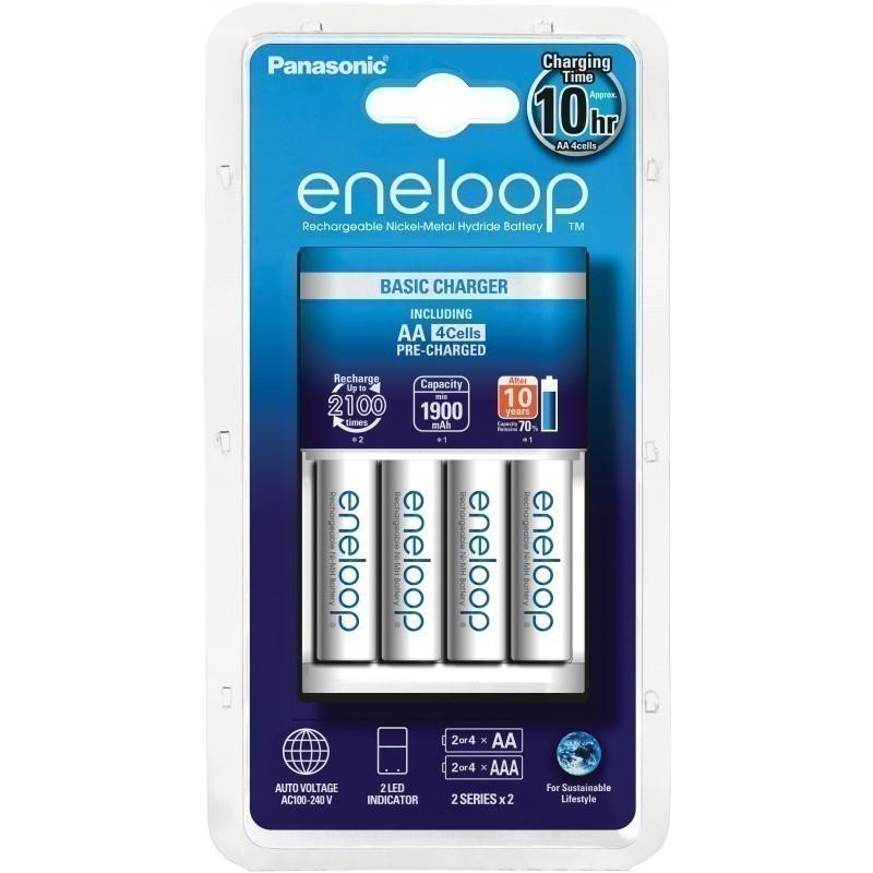 Panasonic eneloop battery charger BQ-CC51 + 4x1900