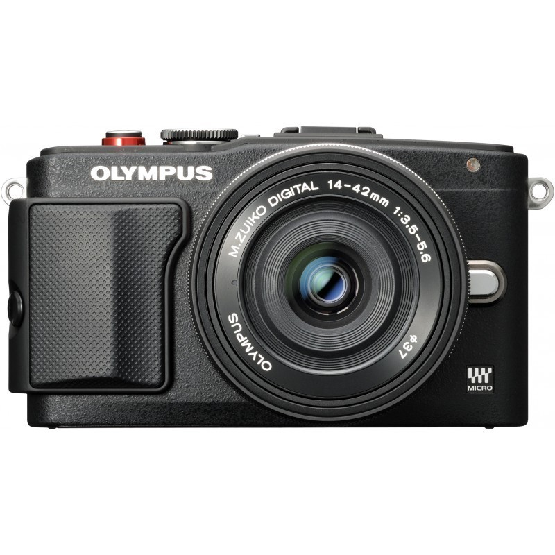 Olympus PEN Lite E-PL6 + 14-42mm EZ + 8GB mälukaart Kit, must