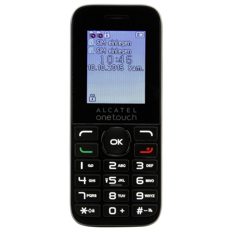 Alcatel Onetouch 10 16d Dualsim Black Cellphones