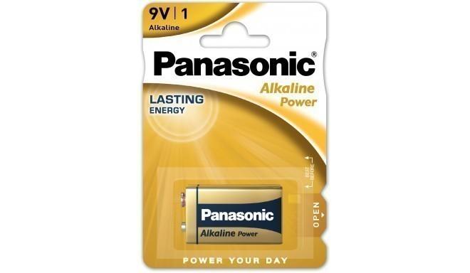 Panasonic Alkaline Power battery 6LR61APB/1B 9V