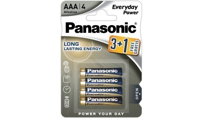 Panasonic Everyday Power patarei LR03EPS/4B (3+1)