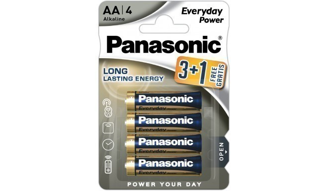 Panasonic Everyday Power patarei LR6EPS/4B (3+1)