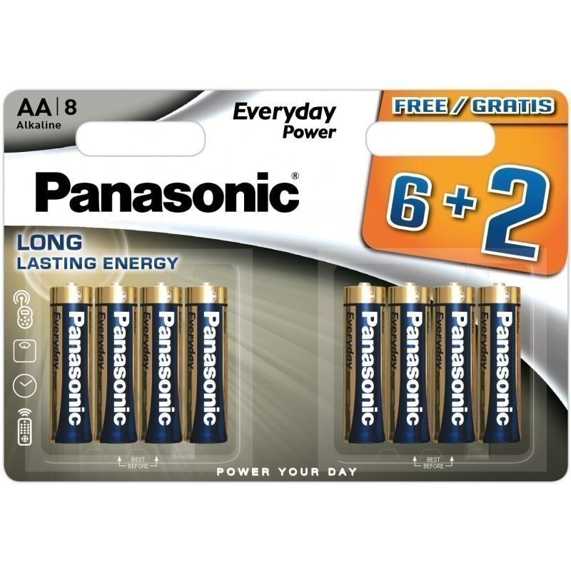 Panasonic baterija LR6EPS/8B (6+2)