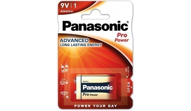 Panasonic Pro Power battery 6LR61PPG/1B 9V