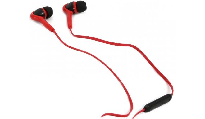 Omega Freestyle austiņas + mikrofons FH1012, sarkanas