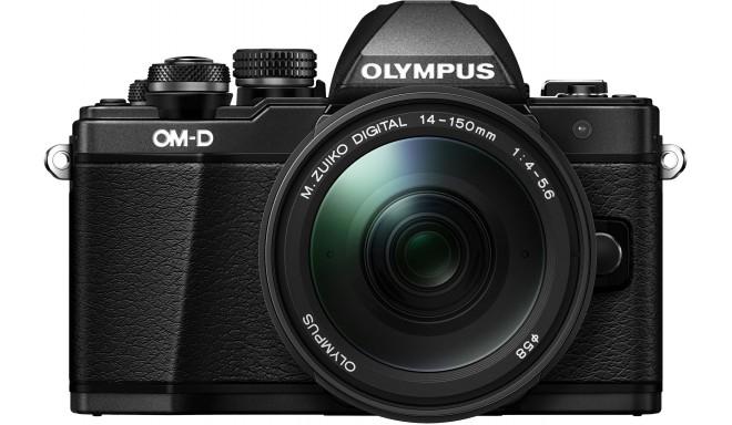 Olympus OM-D E-M10 Mark II + 14-150mm komplekts, melns