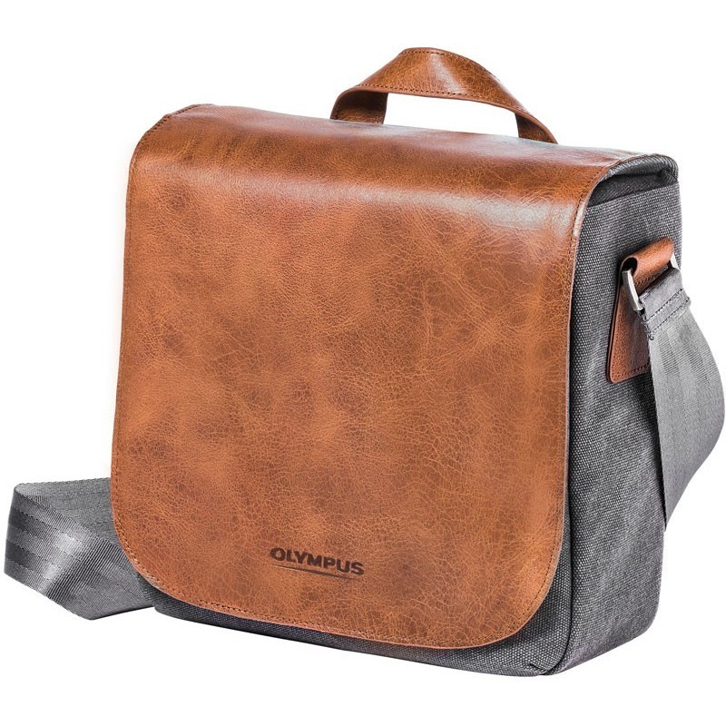 Olympus shoulder bag OM-D Mini Messenger, brown/grey