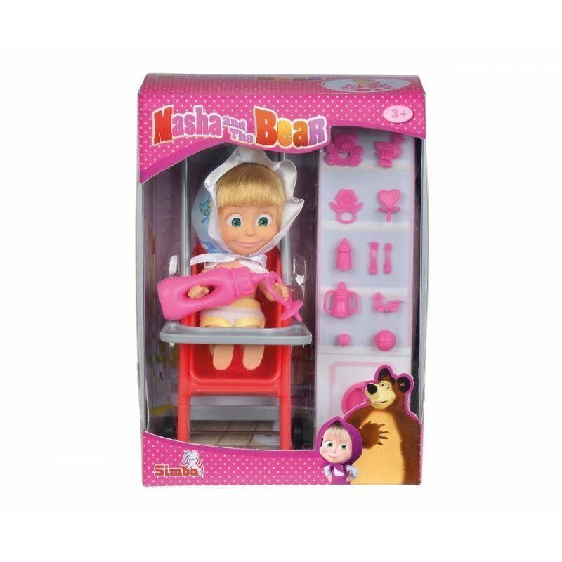e6be01a63c0 SIMBA MASHA AND THE BEAR doll in a stroller, 109301957 - Dolls ...