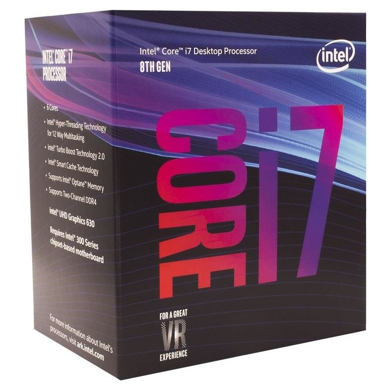Intel Core i7-8700, Hexa Core, 3.20GHz, 12MB, LGA1151, 14nm, BOX