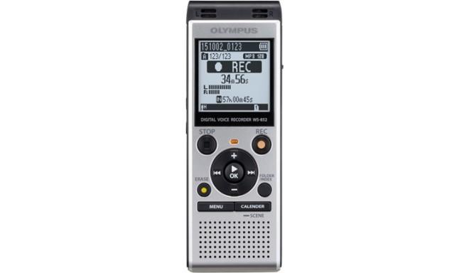 Olympus diktofons WS-852, sudrabots