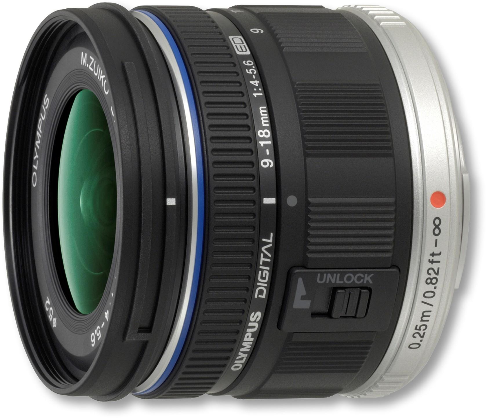 M.Zuiko Digital ED 9-18mm f/4.0-5.6 objektiiv, mus..