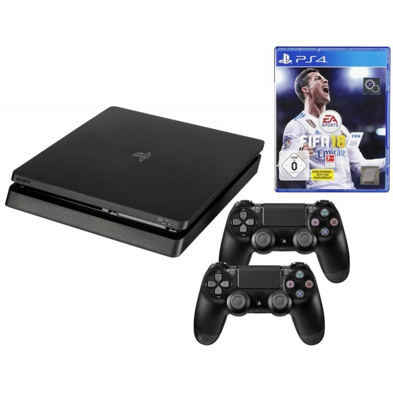 Sony Playstation 4 Slim 1TB incl  2 Controller / FIFA 18