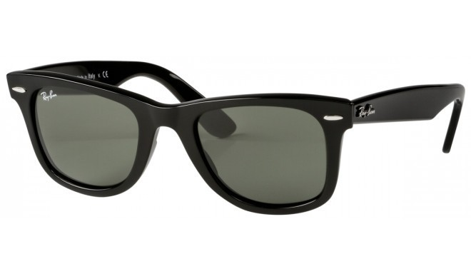 RayBan Wayfarer RB2140 901 50 black crystal green - Sunglasses ... 0e60cee4ce