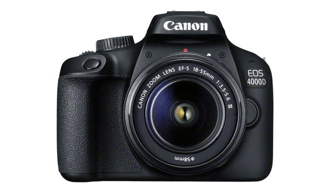 Canon EOS 4000D + 18-55mm III Kit, melns