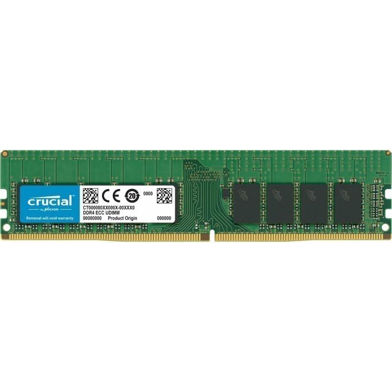 Crucial RAM 16GB DDR4 2133 MT/s CL15 UDIMM 288pin DR x8 ECC