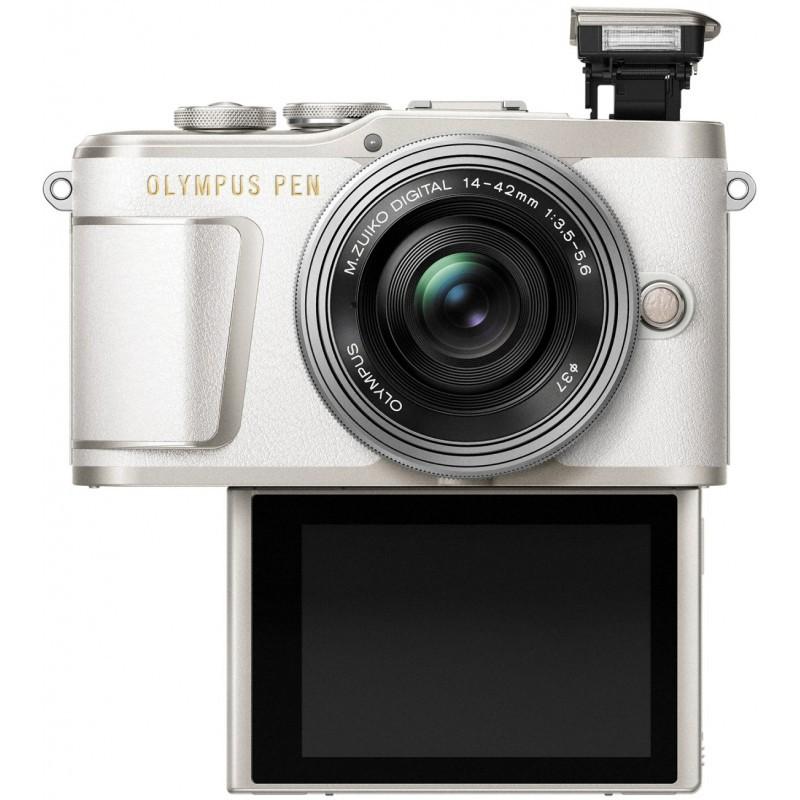 Olympus PEN E-PL9 + 14-42mm Kit, valge/hõbe