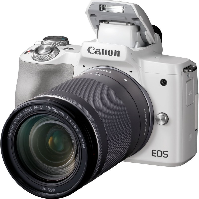Canon EOS M50 + EF-M 18-150mm IS STM, valge