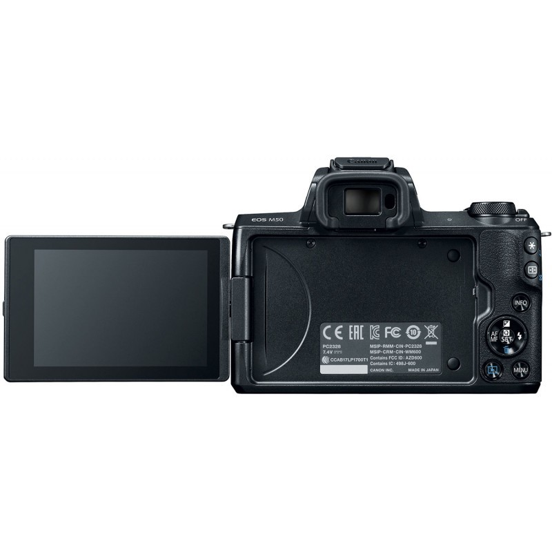 Canon EOS M50 + EF-M 15-45mm + 55-200 IS STM, must
