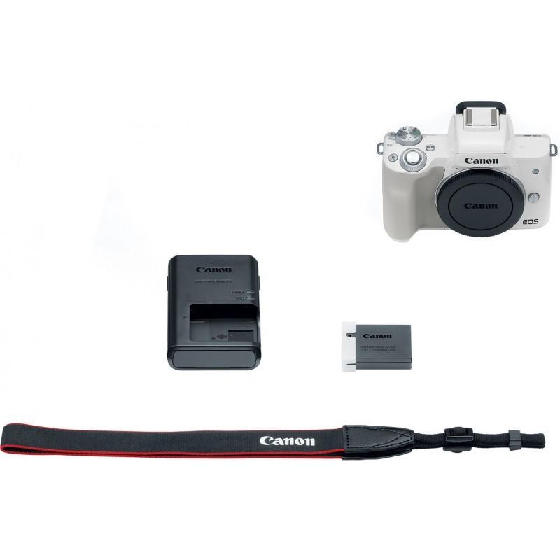 Canon EOS M50 kere, valge