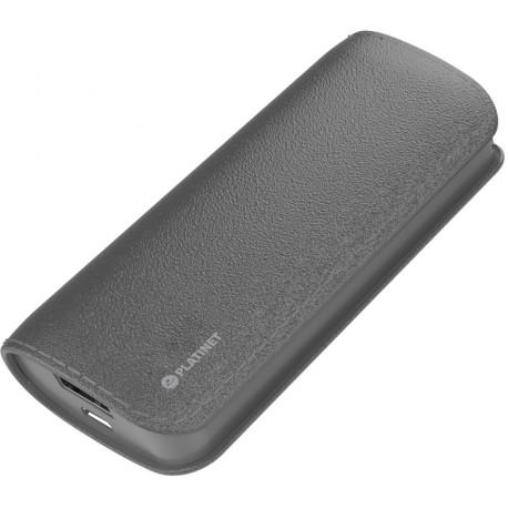 Platinet power bank Leather 5200mAh, серый (43410)