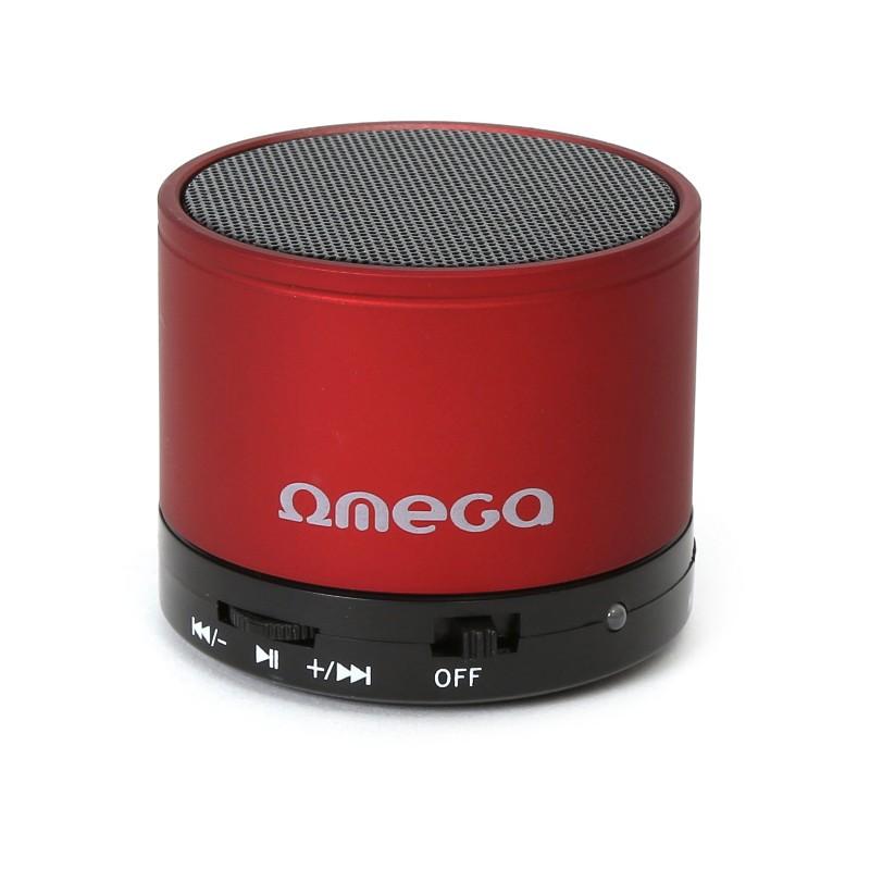 Omega Bluetooth kõlar V3.0 Alu 3in1 OG47R, punane (42646)