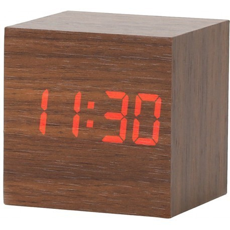 Platinet alarm clock Wooden Cube (43242)