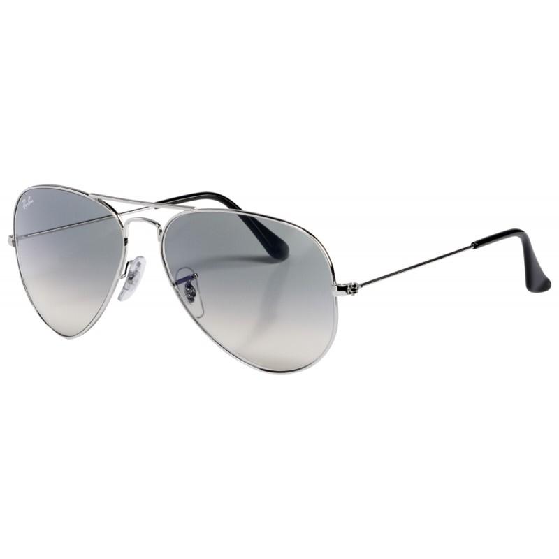 RayBan Aviator RB3025 003 32 58 silver crystal grey gradient ... 245e42a3eabd