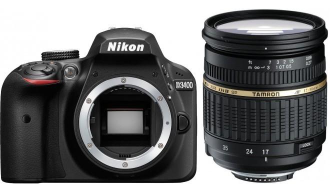Nikon D3400 + Tamron 17-50мм