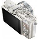 Olympus PEN Lite E-PL8 + 14-42mm EZ Kit, valge/hõbe