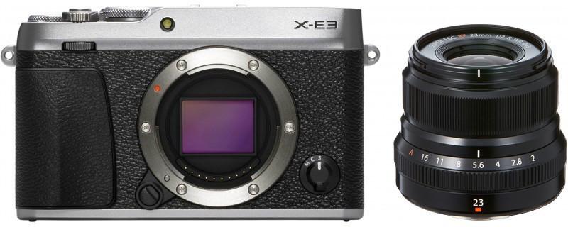Fujifilm X-E3 + 23mm f/2.0 Kit, hõbedan..