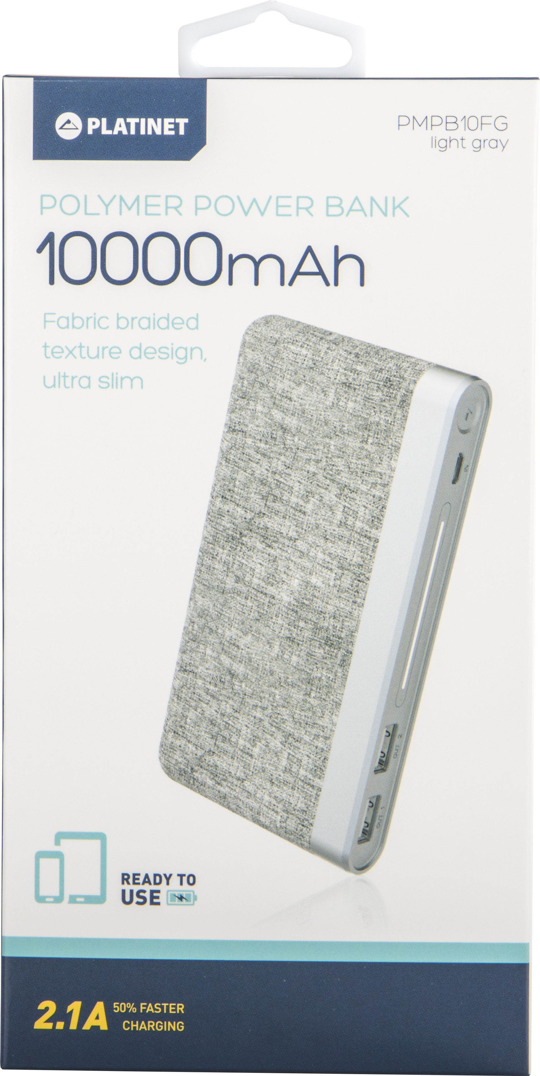 Platinet akupank 10000mAh Fabric Braided LiPo 2.1..