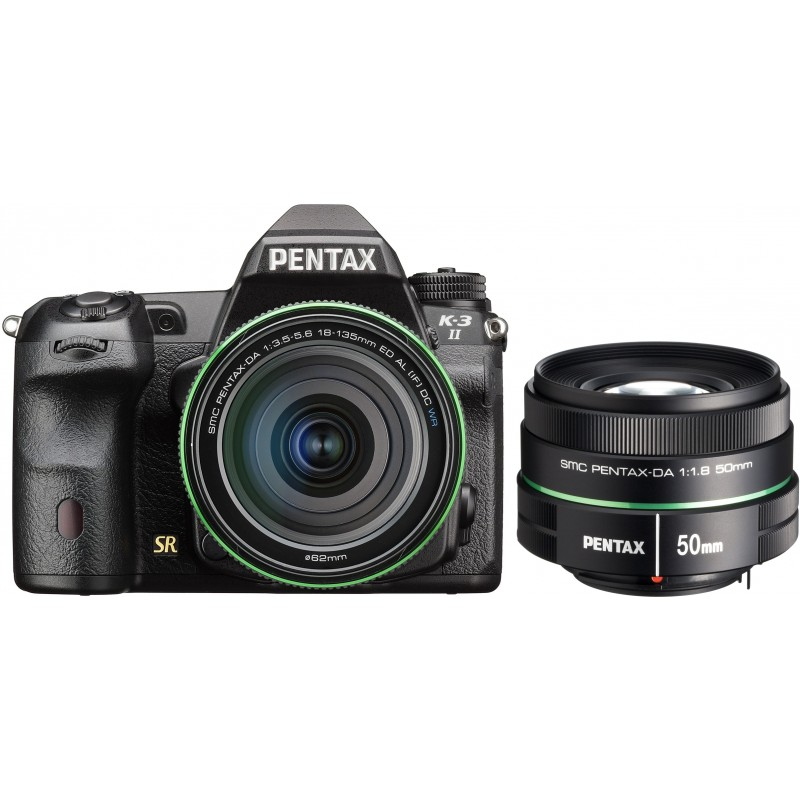 Pentax K-3 II + DA 18-135mm WR Kit + 50mm f/1.8