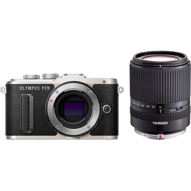 Olympus PEN Lite E-PL8 + Tamron 14-150mm, black