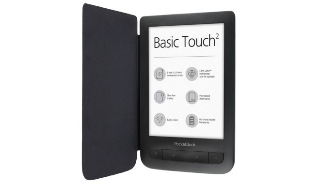 """E-Reader POCKETBOOK 625 Basic Touch 2 6"""" 800x600 Memory 8192 MB 1xMicro-USB Micro SD Wireless LAN 80"""
